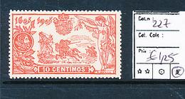 SPAIN YVERT 227 LH - 1931-Aujourd'hui: II. République - ....Juan Carlos I