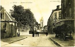3478 - Jura - DOLE  : Avenue De La Gare - Restaurant à Droite  -- Circulée En  1905 -   Rare - Dole