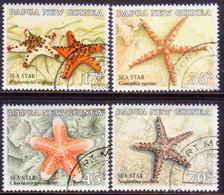 PAPUA NEW GUINEA 1987 SG #563-66 Compl.set Used Starfish - Papua New Guinea