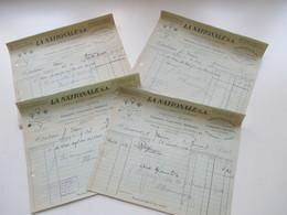 Schweiz 1924 / 26 4 Rechnungen La Nationale S.A. Usines A Geneve & Champagne Fabrication Assortiment Securitas - Switzerland