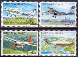 PAPUA NEW GUINEA 1987 SG #567-70 Compl.set Used Airraft - Papua New Guinea