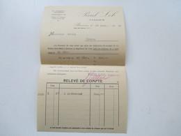 Schweiz 1929 Rechnung Paul Lob Tailleur Bienne Pardessue Für 200 Fr - Switzerland