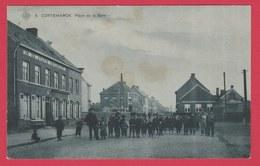 Kortemark / Cortemarck - Place De La Gare ... Geanimeeerd - S.B.P. -1910 ( Verso Zien ) - Kortemark