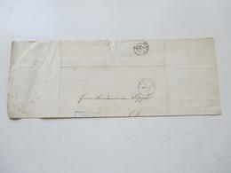 Schweiz 1862 Markenloser Brief 3 Stempel Zürich Und K2 Schwyz Und Blauer Rahmenstempel Schweizer. Rentenanstalt - Lettres & Documents