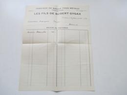 Schweiz 1932 Dokument / Rechnung Fabrique De Boites Tous Metaux Tous Genres Les Fils De Robert Gygax St. Imier - Switzerland