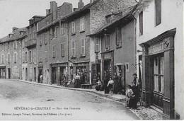 SEVERAC LE CHATEAU : Rue Des DOUVES Et Ses Commerces - France
