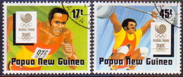 PAPUA NEW GUINEA 1989 SG #583-84 Compl.set Used Olympic Games, Seoul - Papouasie-Nouvelle-Guinée