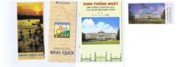 VIETNAM - SAIGON / HUYEN CU CHI - LOT OF VINTAGE DEPLIANTS -  CANTHO HOTEL / BONG SEN HOTEL / GUCHI TUNNEL - TICKET - Dépliants Turistici