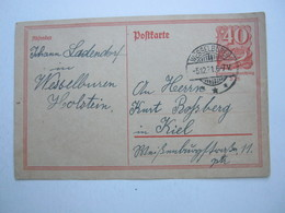 1921 , WESSELBUREN , Klarer Ortsstempel Auf   Karte - Briefe U. Dokumente