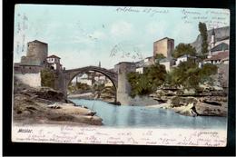BOSNIA Mostar Narenta Brücke  1905 OLD POSTCARD - Bosnia And Herzegovina
