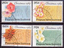 PAPUA NEW GUINEA 1989 SG #607-10 Compl.set Used Christmas - Papua New Guinea