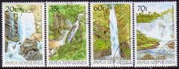 PAPUA NEW GUINEA 1990 SG #611-14 Compl.set Used Waterfalls - Papua New Guinea