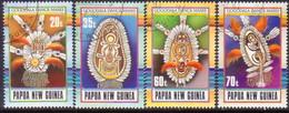 PAPUA NEW GUINEA 1990 SG #617-20 Compl.set Used Gogodala Mask Dance - Papua New Guinea