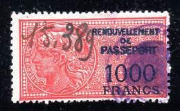 FISCAUX - PASSEPORTS - N° 13 Obl  (1926-52) 1000 Fr - Fiscaux