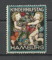 Deutschland Ca 1910 Kinderhilfstag Hamburg Charity Vignette Child Protection Kinderhilfe * - Vignetten (Erinnophilie)