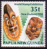 """PAPUA NEW GUINEA 1990 SG #621 35t Used """"New Zealand 1990"""" - Papua New Guinea"""