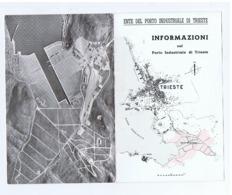 TRIESTE - ENTE DEL PORTO INDUSTRIALE - INFORMAZIONI -  VINTAGE DEPLIANT - 1950s/60s - Dépliants Touristiques