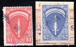 FISCAUX - PERMIS MILITAIRES - N° TR 3+4 Obl  (1947) Emblème Du SHAEF - Fiscaux