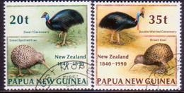 PAPUA NEW GUINEA 1990 SG #622-23 Compl.set Used Treaty Of Waitanagi - Papua New Guinea