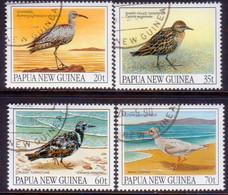 PAPUA NEW GUINEA 1990 SG #624-27 Compl.set Used Migratory Birds - Papua New Guinea