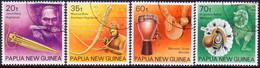 PAPUA NEW GUINEA 1990 SG #628-31 Compl.set Used Musical Instruments - Papua New Guinea
