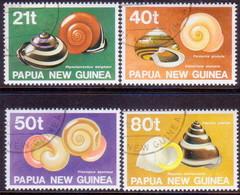 PAPUA NEW GUINEA 1991 SG #632-35 Compl.set Used Land Shells - Papua New Guinea