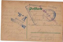 FRANCHISE MILITAIRE   CARTE PRISONNIER DE GUERRE 1916 - Marcophilie (Lettres)