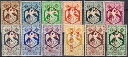 """A.E.F. - Timbres De 1940-41 Surchargés """"RESISTANCE"""" - N° 169 à 180 Neufs Sans Charnière. - Neufs"""