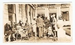 PHOTO ORIGINALE 1927 - DINARD TERRASSE D'UN RESTAURANT - Lieux