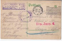 FRANCHISE MILITAIRE   MUNSTER CARTE PRISONNIER DE GUERRE 1915 - Marcophilie (Lettres)