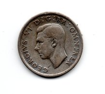 Great Britain 1943 GEORGE VI   TWO SHILLINGS (FLORIN)  USED CONDITION. (DH11) - 1902-1971 : Post-Victorian Coins