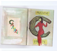 CAMPARI - PREZIOSO 1971 - VINTAGE CALENDARIO / AGENDINA / OROSCOPO / PERSONAGGI CELEBRI / SEGNALI STRADALI - Calendriers