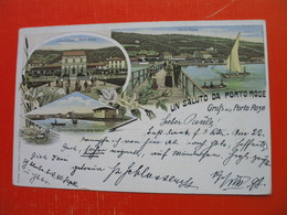 Lithography.Litografija Portoroz(Secovlje/soline).UN SALUTO DA PORTO ROSE.Gruss Aus Porto Rose - Slovenia