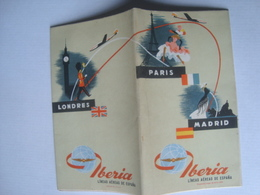 IBERIA, LÍNEAS AÉREAS DE ESPAÑA. MADRID-PARÍS-LONDRES - ESPAÑA / SPAIN, 1959. - Publicités