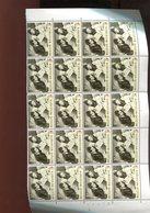 Belgie 1963 1266 Albert II Queen Paola Monarchie  Luppi Halve Sheet Of 20  MNH Plaatnummer 2 - Feuilles Complètes