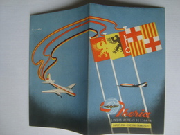 IBERIA, LÍNEAS AÉREAS DE ESPAÑA. BARCELONA-GINEBRA-FRANKFURT - ESPAÑA / SPAIN, 1955 APROX. - Advertisements