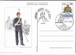 SAN MARINO - UNIFORMI SANMARINESI - CARTOLINA INTERO POSTALE (INT. 42/06) ANNULLO F.D.C. - Militaria