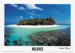 (RECTO / VERSO) MALDIVES - ATOLL - BEAU TIMBRE - CPM GF VOYAGEE - Maldives