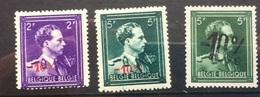 BELGIUM 1930`s Leopold 3 Examples With 10% Overprints MNH - Belgium