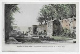 Boulogne--sur-Mer - Promenade Sous Les Remparts De La Haute Ville - B.J.C., Paris - Dos Simple - Boulogne Sur Mer