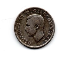 Great Britain 1942 GEORGE VI   TWO SHILLINGS (FLORIN)  USED FINE CONDITION. (DH12) - 1902-1971 : Post-Victorian Coins