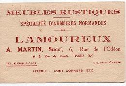 PARIS 06   MEUBLES RUSTQUES  M LAMOUREUX  AU DOS MATINEE DANSANTE LE FAMEUX JAZZ NEGRE MANHATTAN SIX LYCEE LOUIS LEGRAND - Publicités