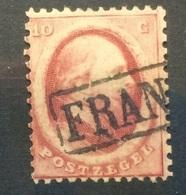 NETHERLANDS 1864 10c Lake - Period 1852-1890 (Willem III)