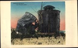 Cp Dixmuiden Westflandern, Zerstörter Petroliumtank - België