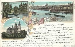 MAGDEBURG Gruss Aus Magdeburg, Carte Illustrée. - Magdeburg