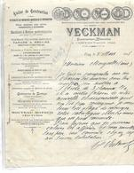 Facture 1905 / OISE / CREPY EN VALOIS / VECKMAN Constructeur Mécanicien / Tarare Hélices, Moteur Alcool Et Pétrole - 1900 – 1949