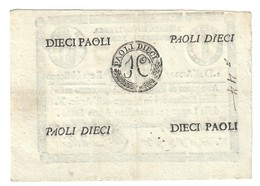 1à Repubblica Romana Assegnati 1798 10 Paoli ( Retro Cerchio ) Dell'anno 7  Sup Lotto.2440 - [ 1] …-1946 : Royaume