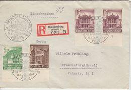 DR - Tag D. Briefmarke Brandenburg (Havel) 1941 SST Ortsbrief Einschreiben - Briefe U. Dokumente