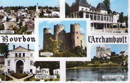 03. Bourbon L'archambault. 5 Vues. Cpsm Petit Format - Bourbon L'Archambault