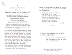 Devotie - Doodsprentje Overlijden - Oudstrijder - Armand Van Glabeke - Moregem 1900 - Gentbrugge 1986 - Décès